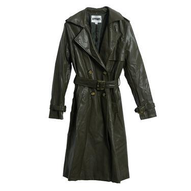Apparis Lucia Trench Coat- Hunter Green