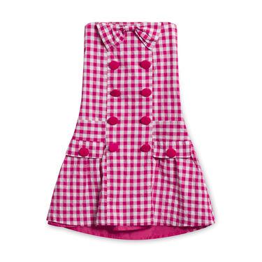 Vintage Sleeveless Pink Checkered Dress