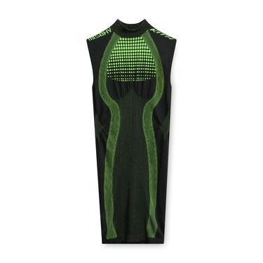 MISBHV x KITH Mini Dress in Black/Neon Green