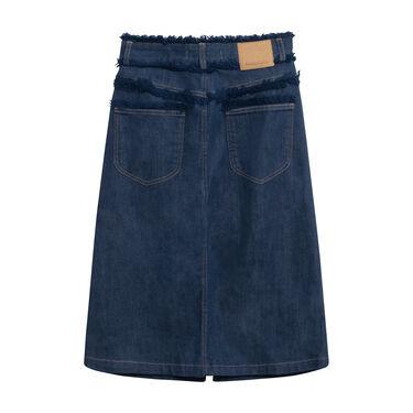 See By Chloé Frayed Denim Skirt