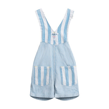 Vintage OshKosh Overalls- Light Blue Pinstripe