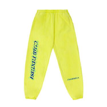 Club Fantasy Caged Logo Sweatpants in Bright Green