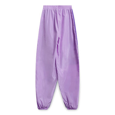Lilac Contrast Panel Shell Joggers - Purple