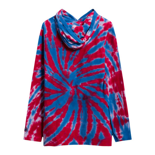 Undefeated Tie Dyed Hooded Long Sleeve Top