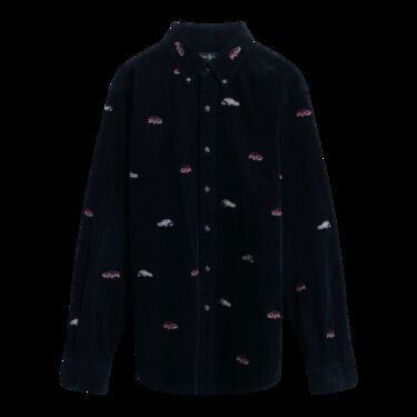 Palace x Polo Ralph Lauren Navy Embroidered GTI Corduroy Shirt