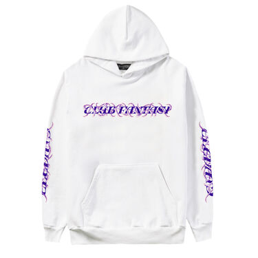 Club Fantasy Caged Logo Hoodie in White
