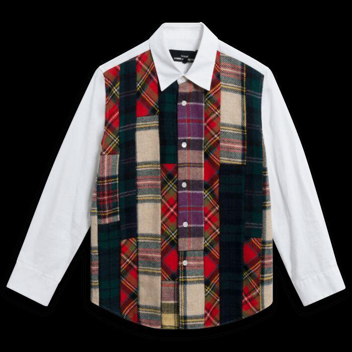Tricot Commes des Garcons Tartan Panel Shirt