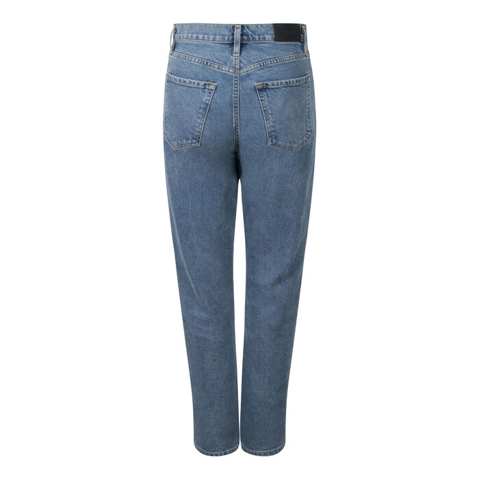Goldsign- Benefit High-Rise Straight Jeans in Light Blue