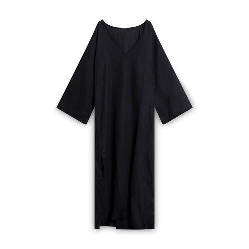 Le Petit Trou Linen Tunic/Cover-up - Black