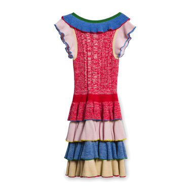 Alexander McQueen Pleated Rainbow Dress