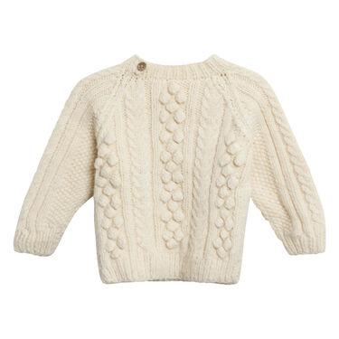 Vintage Crochet Sweater in Cream