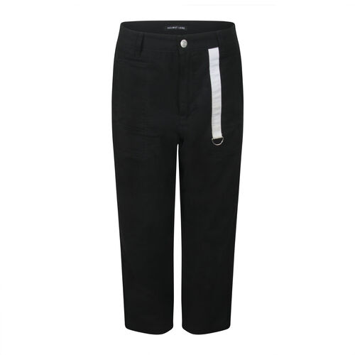 Helmut Lang Cropped Trousers with Pocket Tab