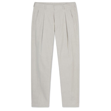 Entireworld Cotton Pleated Trousers - Stone