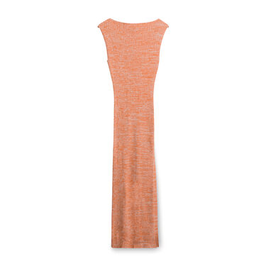 Anna Quan Fitted Knit Dress - Orange