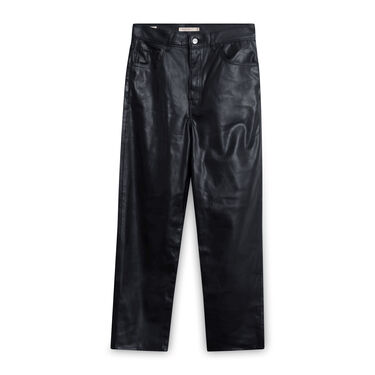 Levi's Women's Faux Leather Rib Cage Straight Pants