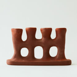 Four Stem Candle Holder in Natural