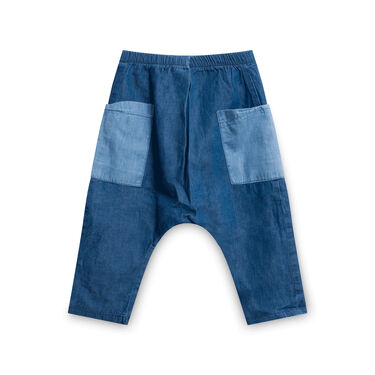 Bao Bab Patchwork Denim-Like Pants