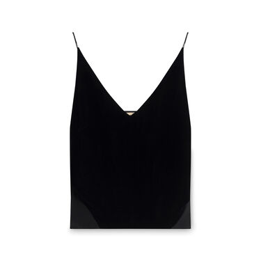J Brand Lucy Velvet Camisole - Black