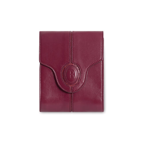 Rouje Paris Leather Crossbody with Gold Chain - Burgundy