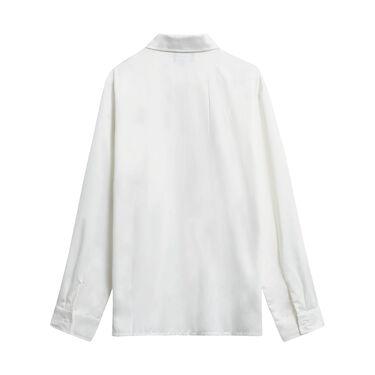 Vintage Stussy Button Down Dress Shirt - Cream