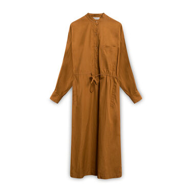 Veronique Leroy Cotton Button Down Dress - Brown