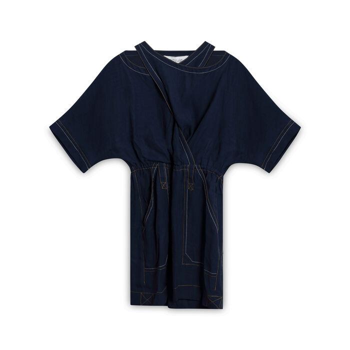 Derek Lam 10 Crosby Denim-Inspired Cross Dress - Navy