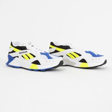 Reebok Aztrek Sneaker in White/Black/Cobalt/Yellow
