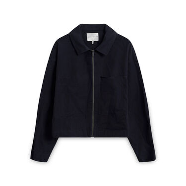 Oak + Fort Cotton Jacket - Black