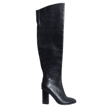 Sigerson Morrison Black New Mars Leather Studded Boots