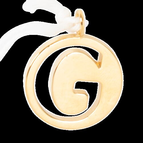 Chloe Alphabet Necklace Pendant in Letter G
