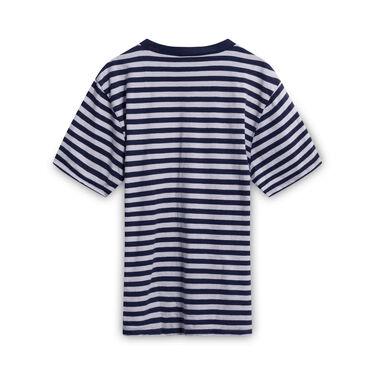 ASAP Rocky x Guess Jeans Striped T-Shirt - Navy/White