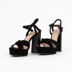 Lanvin Suede Platform Sandals