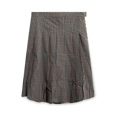 Stussy Mix Plaid Pleated Skirt