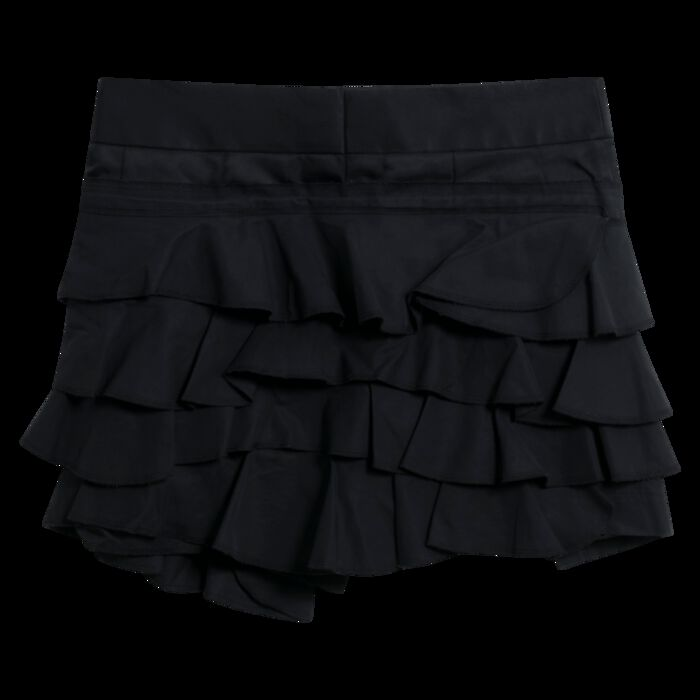 Comme des Garçons Black Tiered Frill Mini Skirt