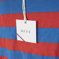 Kule Cotton The Rugby Top In Royal/Poppy