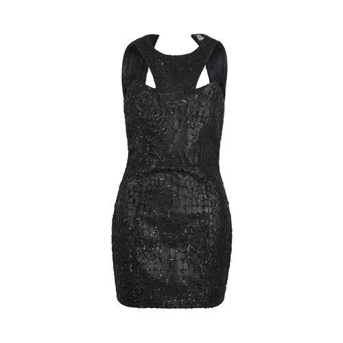 Saint Laurent Sequin Embellished Leather Mini Dress