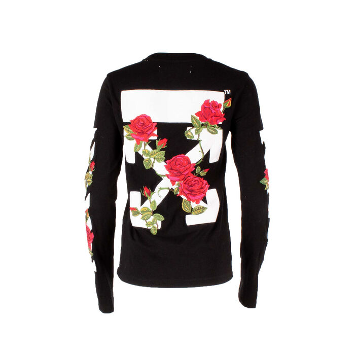 Off-White Rose Embroidered Long Sleeve Shirt