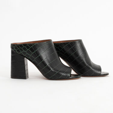 Givenchy Snakeskin Patterned Leather Mules
