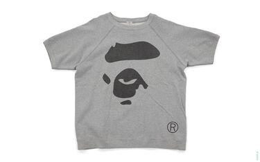 Apeface Short Sleeve Crewneck Sweatshirt grey