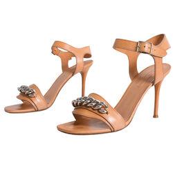 Celine Tan Leather Heeled Sandals