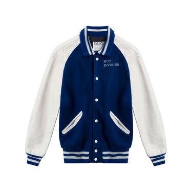 Vintage DeLong Blue and White Varsity Jacket