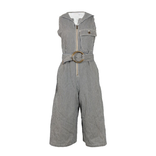 Chloe Pinstriped Dungaree Jumpsuit