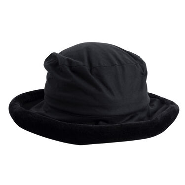 Vintage Failsworth Bucket Hat with Fur Trim - Black