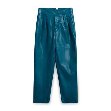 Simon Miller Vegan Leather Paperbag Trouser
