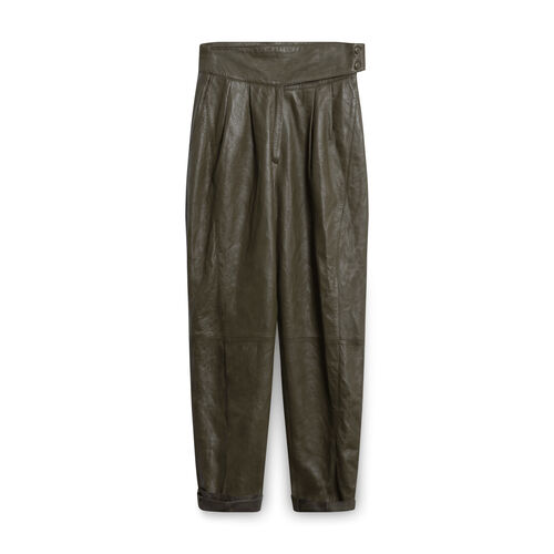 Vintage Lillie Rubin Exclusive Leather Pants - Olive Green