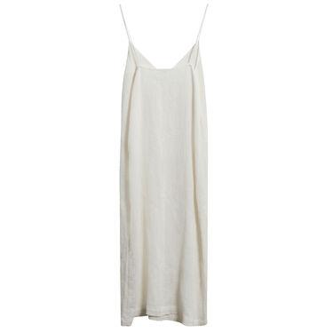 Lacausa Textured V-Neck Slip Dress in Ivory