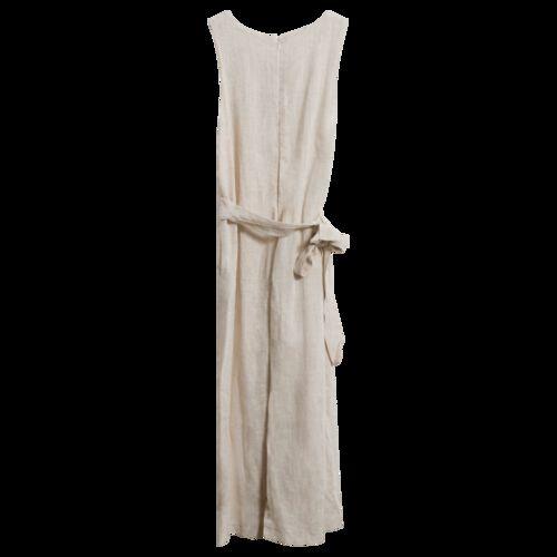Vintage Wheat Linen Jumpsuit