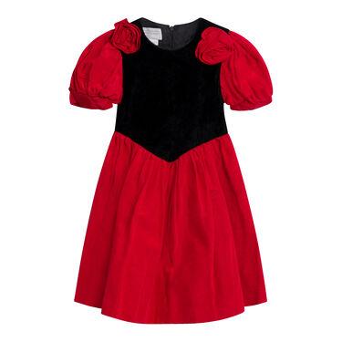 Vintage Gunne Sax Velvet Dress- Red