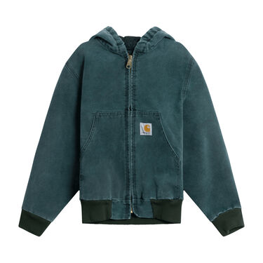 Carhartt Olive Canvas Lined Hooded Jacket