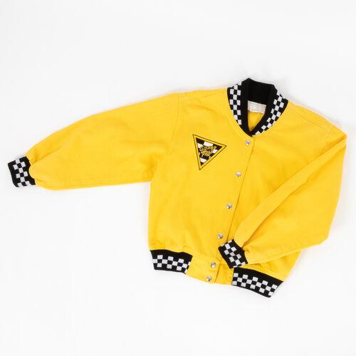 Vintage Cache Grand Prix Denim Bomber Jacket